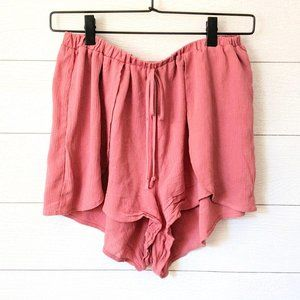 Dee Elly Mauve Pink Pull On Tulip Side Shorts M